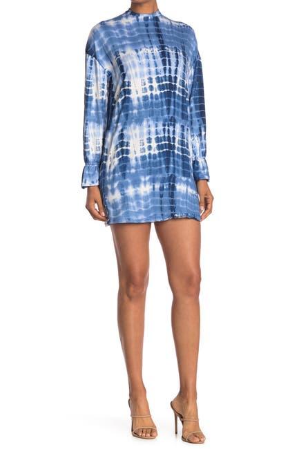 Image of Velvet Torch Tie Dye Print Mini Dress