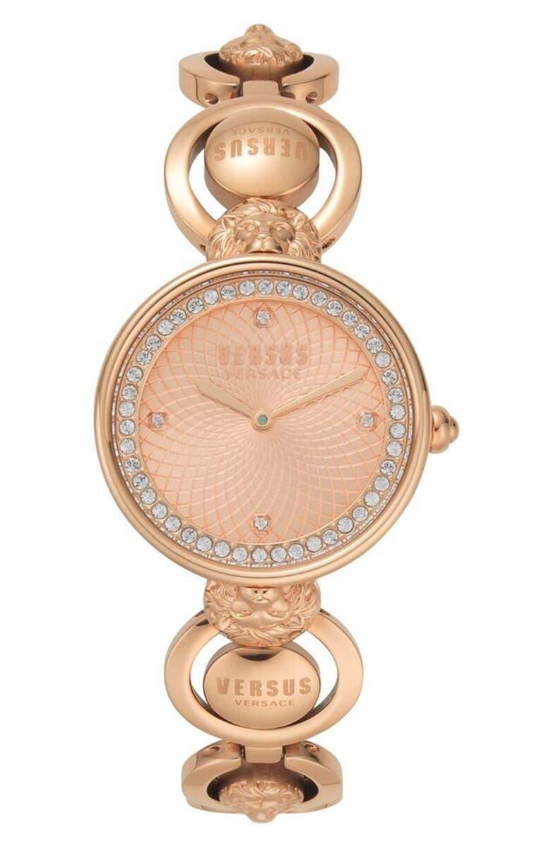 VERSUS VERSACE Versus by Versace Victoria Harbour Bracelet Watch, 34mm, Main, color, ROSE GOLD