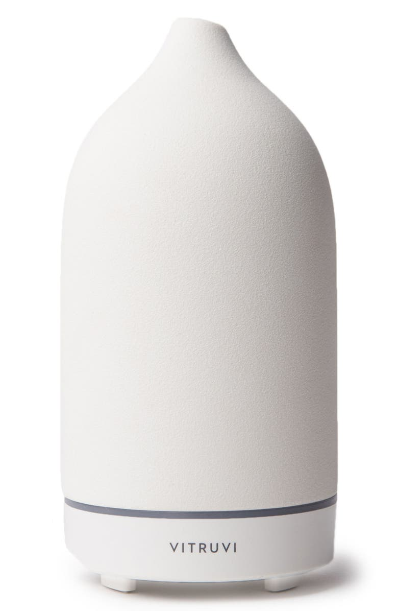 VITRUVI Porcelain Essential Oil Diffuser, Main, color, WHITE