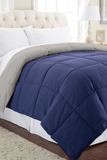 Image of Modern Threads Down Alternative Reversible Twin Comforter - Eclipse/Silver