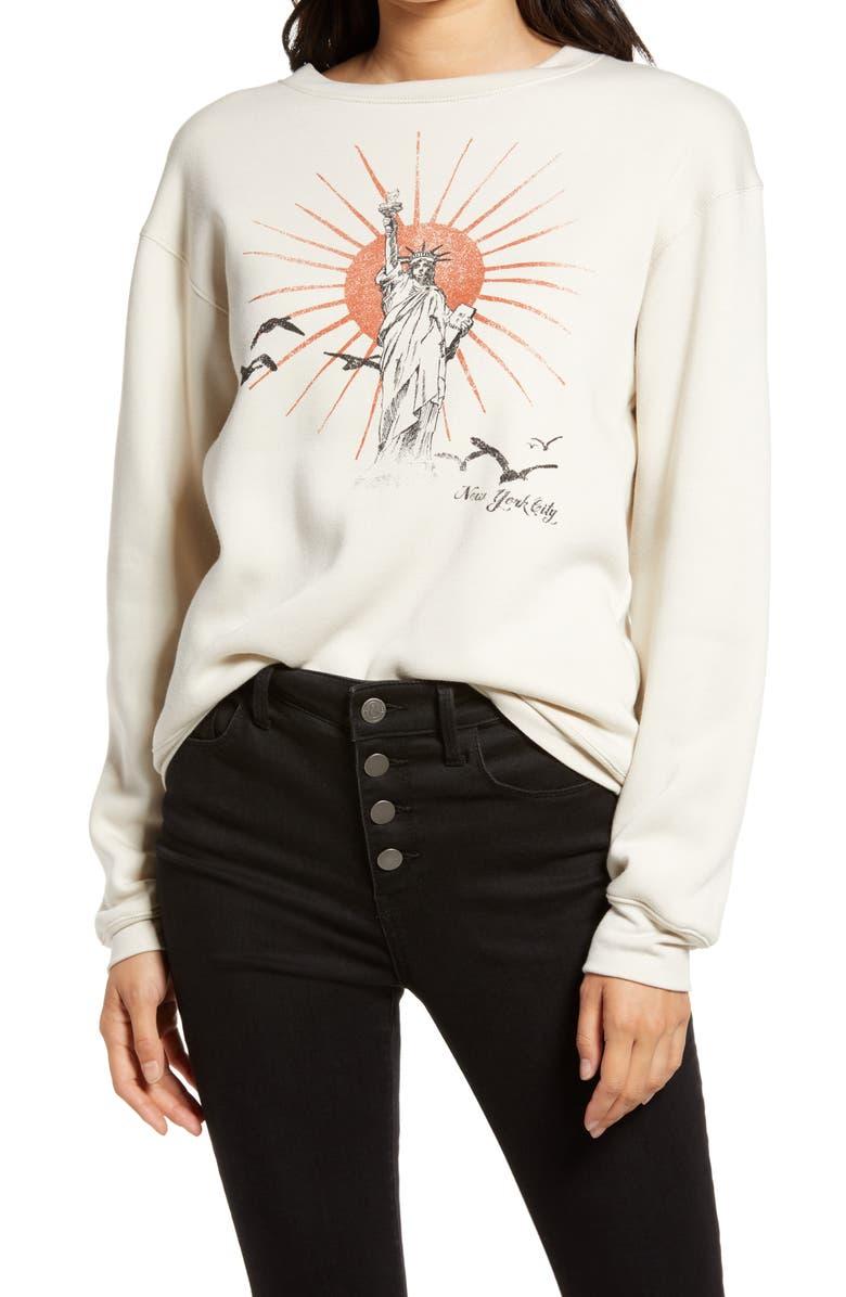 TREASURE & BOND Graphic Sweatshirt, Main, color, ANTIQUE- LIBERTY