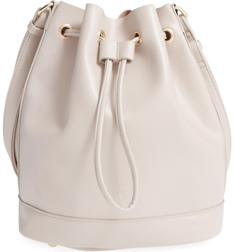 POVERTY FLATS BY RIAN 'Shopper' Faux Leather Bucket Bag, Main, color, 027