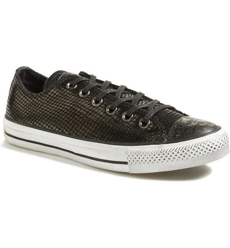 CONVERSE Chuck Taylor<sup>®</sup> All Star<sup>®</sup> Snake Embossed Leather Sneaker, Main, color, 001