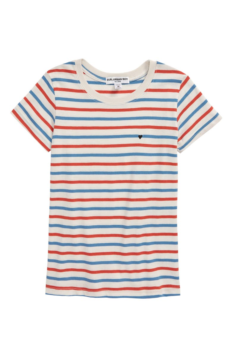 SUB_URBAN RIOT Vincent Stripe Heart Tee, Main, color, 600