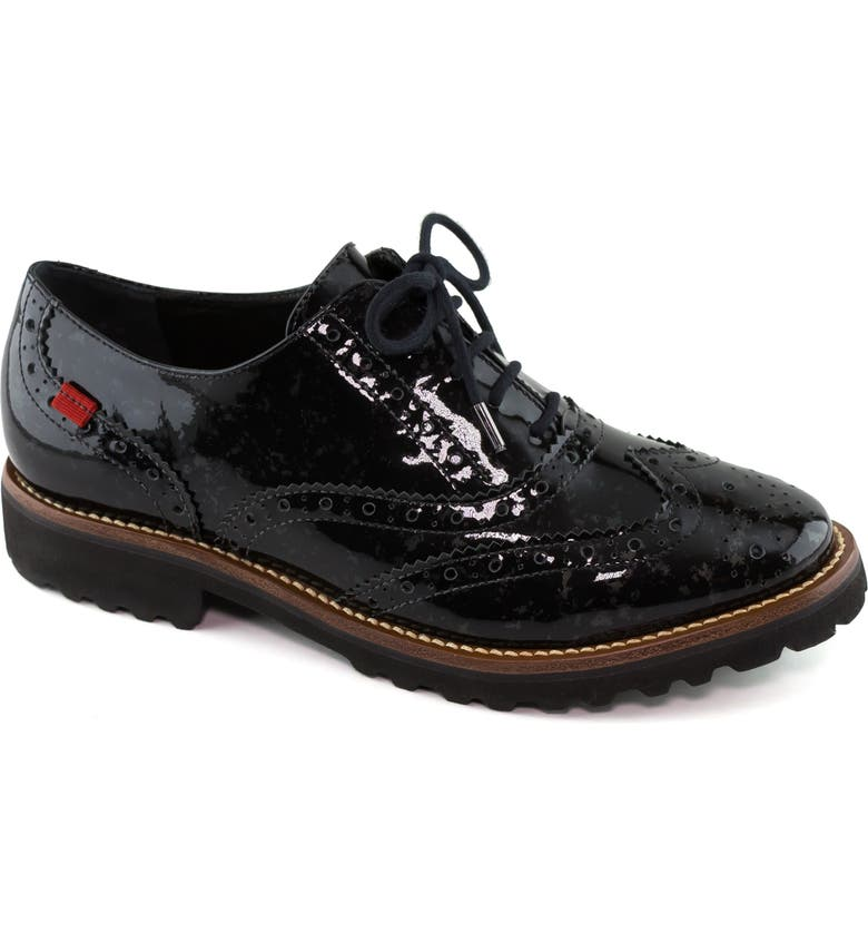 MARC JOSEPH NEW YORK Central Park West Oxford, Main, color, MARBLE PEWTER PATENT LEATHER