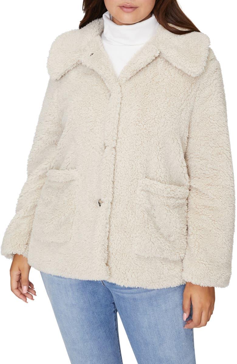 SANCTUARY Faux Fur Teddy Coat, Main, color, MOONSTONE