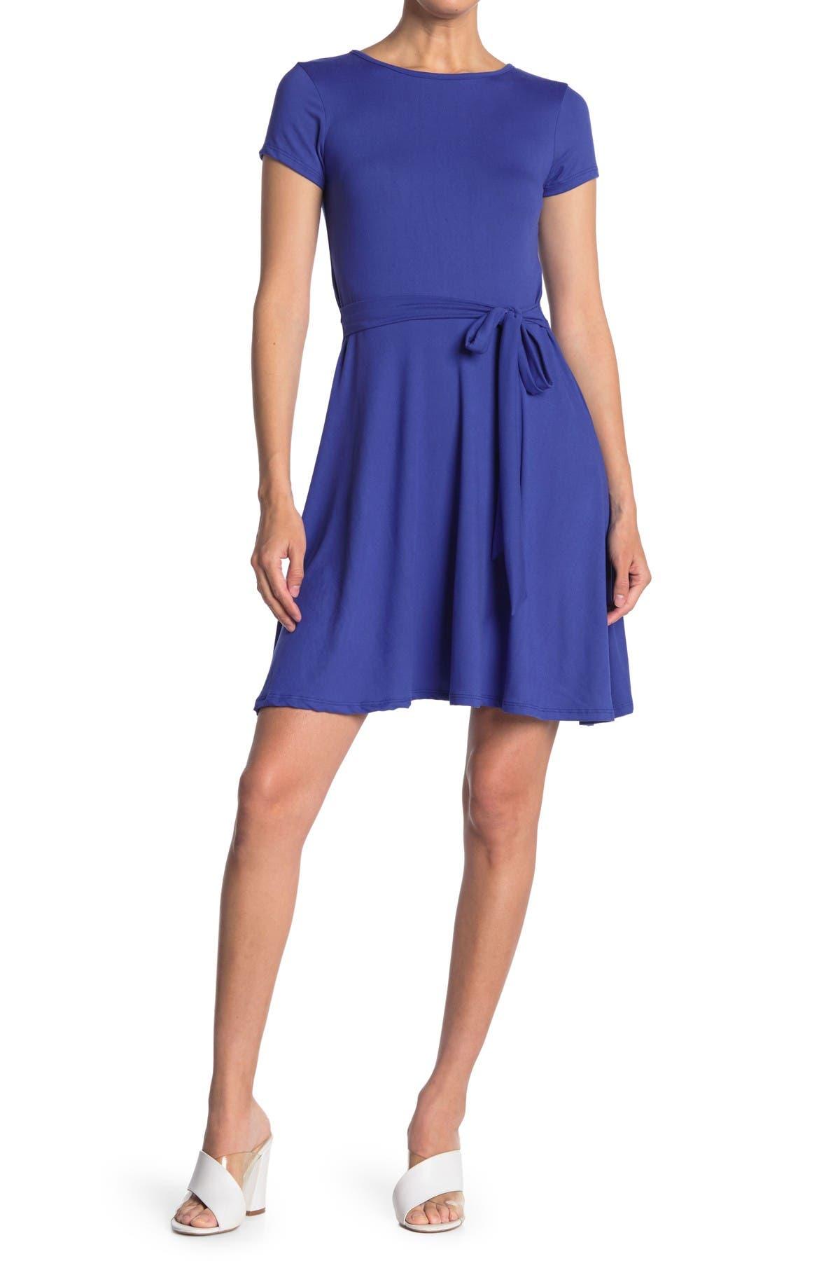 Image of Velvet Torch Short Sleeve Skater Dress