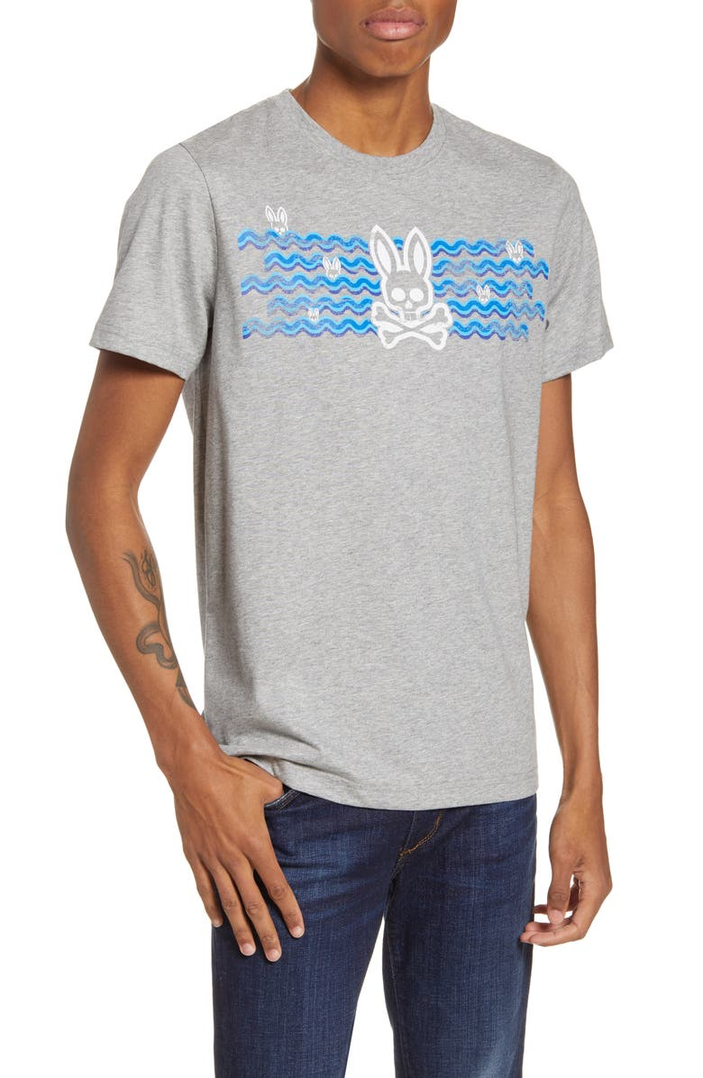 PSYCHO BUNNY Wynford Graphic T-Shirt, Main, color, 062 HEATHER GREY
