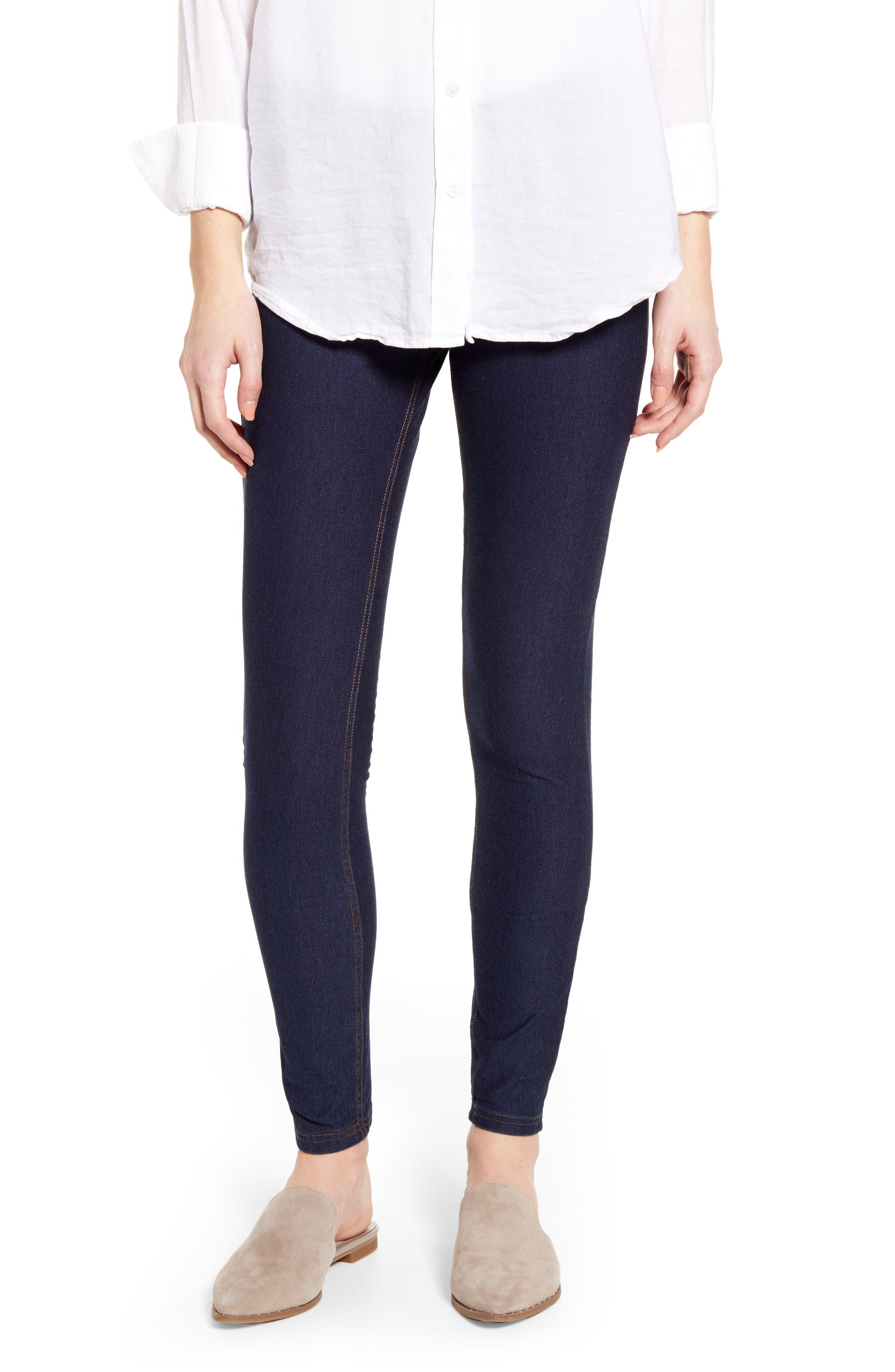 Plus Size Hue Essential Denim Leggings, Size - Blue