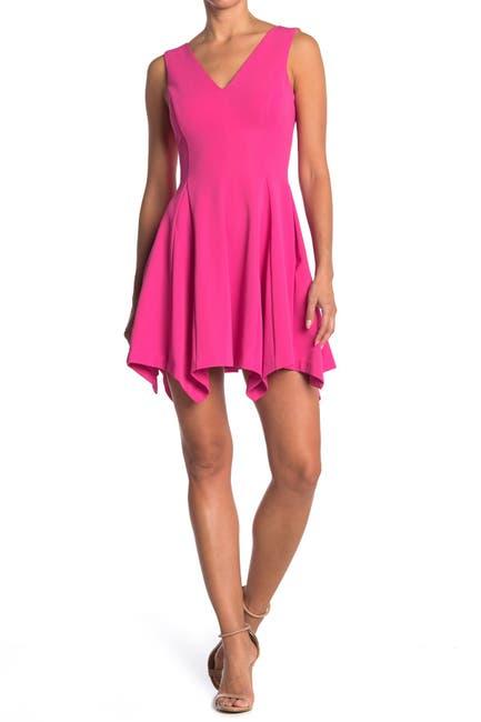 Image of Kensie V-Neck Sleeveless Pocket Skater Dress