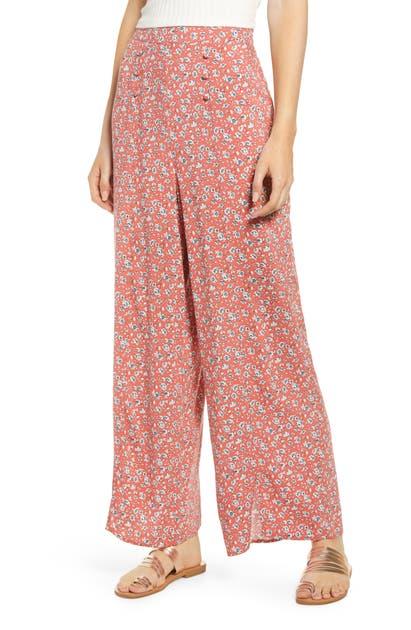 Band Of Gypsies Pants SUNFLOWER FLORAL PRINT PANTS