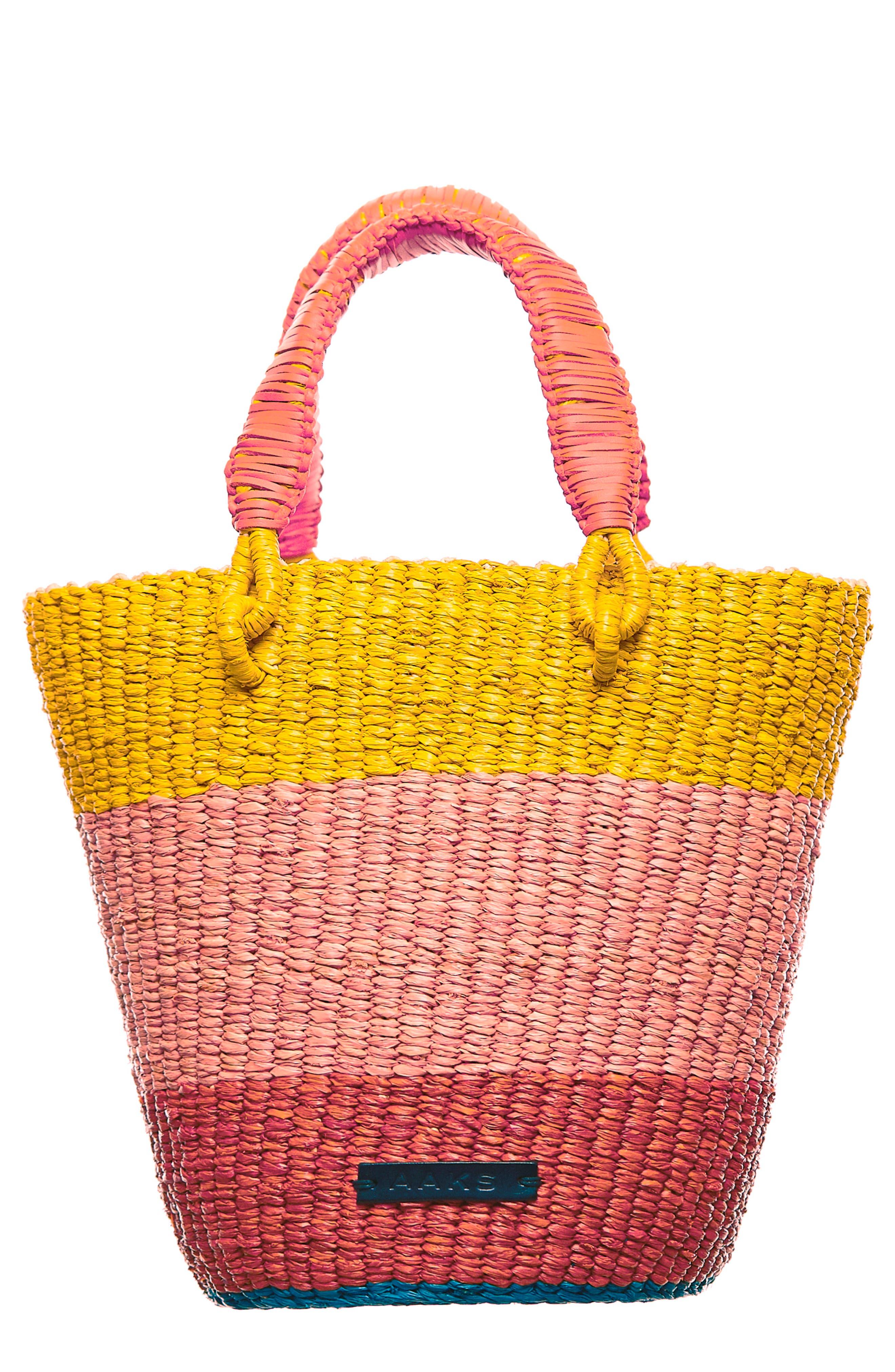 Aaks Tia Raffia Bucket Bag