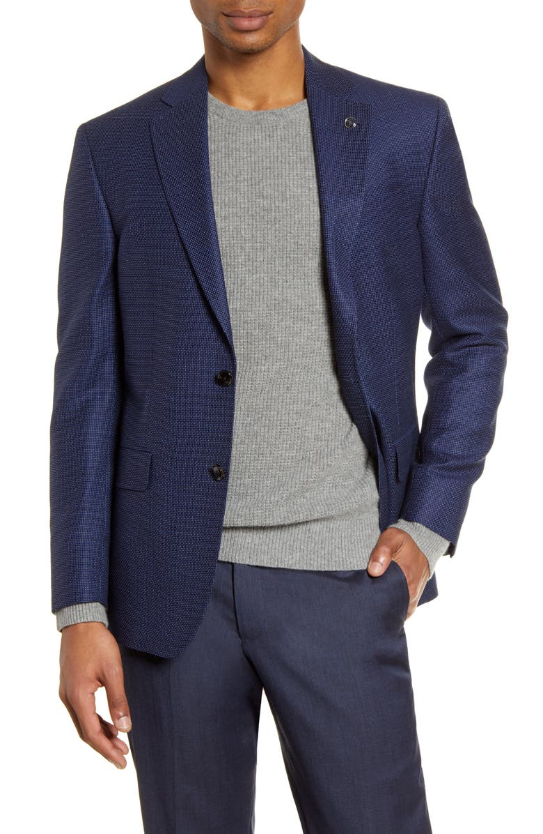 TED BAKER LONDON Jay Trim Fit Wool Sport Coat, Main, color, BLUE