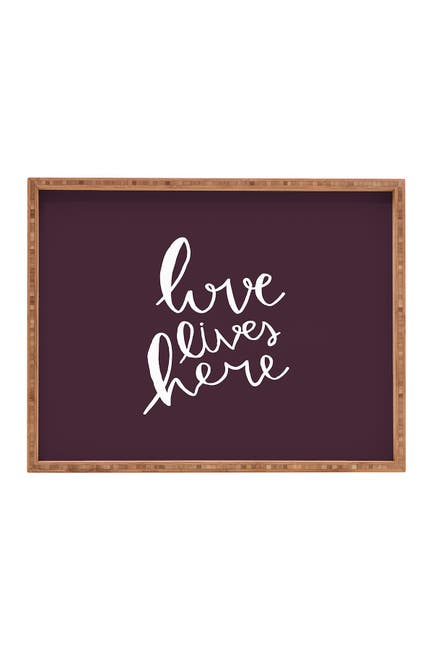 Image of Deny Designs Allyson Johnson Love Lives Here Rectangular Tray