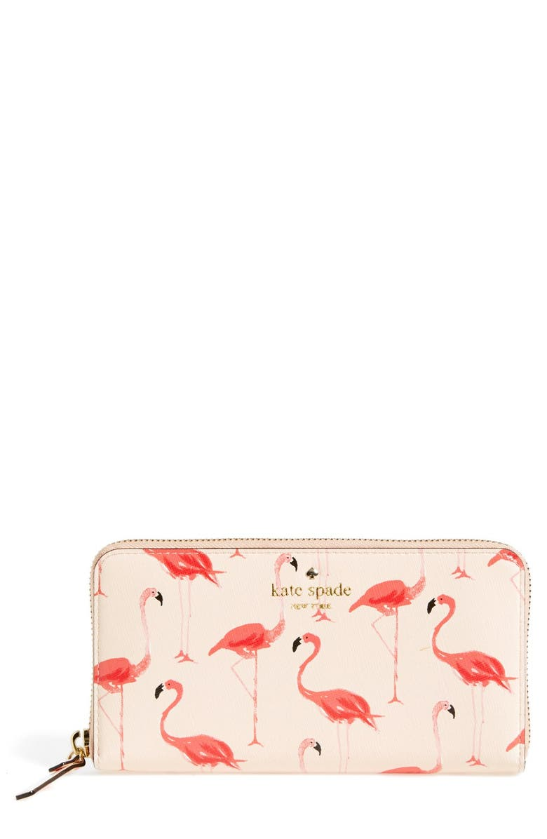 KATE SPADE NEW YORK kate spade 'cedar street - lacey' zip wallet, Main, color, 191