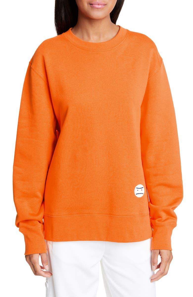 TORY SPORT Little Grumps Oversize French Terry Sweatshirt, Main, color, VIBRANT ORANGE