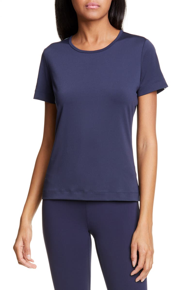 TORY SPORT Banner Performance Tee, Main, color, TORY NAVY