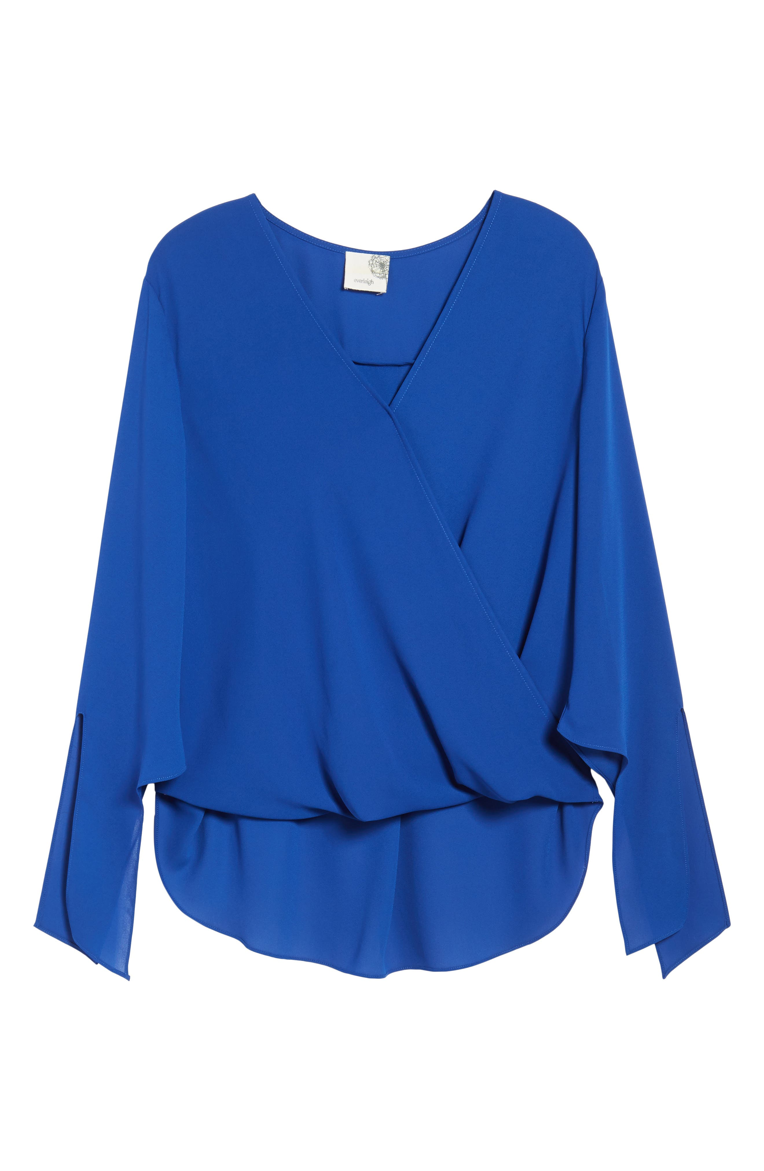 ,                             Surplice Neck Top,                             Alternate thumbnail 24, color,                             405