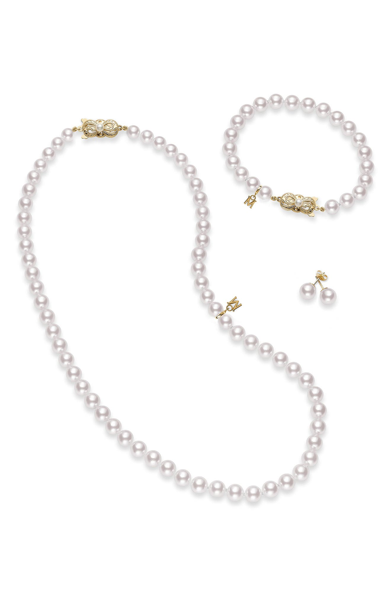 Essential Elements Akoya Cultured Pearl Necklace