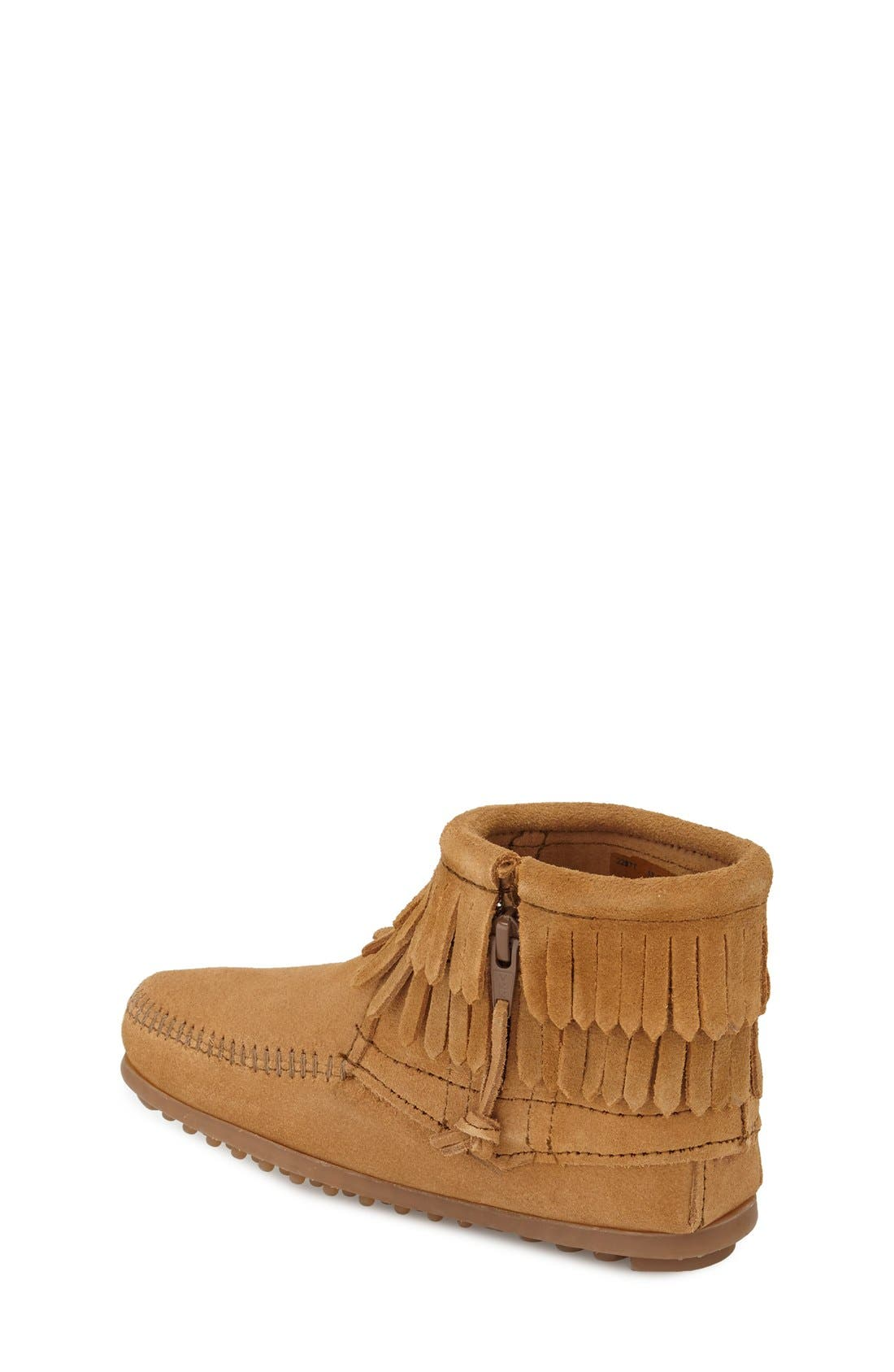 ,                             'Double Fringe' Boot,                             Alternate thumbnail 2, color,                             TAUPE