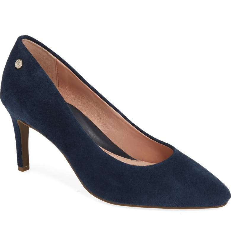 TARYN ROSE Tamara Pump, Main, color, MIDNIGHT SUEDE