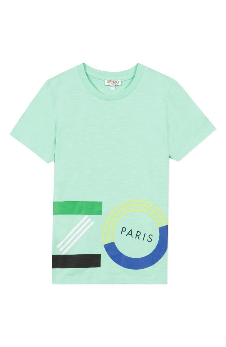 KENZO Logo T-Shirt, Main, color, MENTHOL