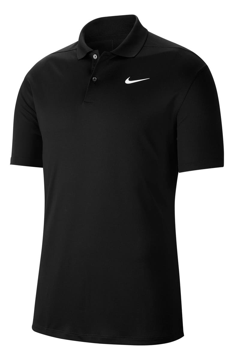 NIKE Golf Dri-Fit Victory Polo Shirt, Main, color, BLACK/ WHITE