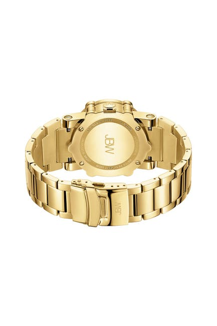 Image of JBW Men's Phantom Metal Diamond Bracelet Strap Watch, 42mm - 2.00 ctw