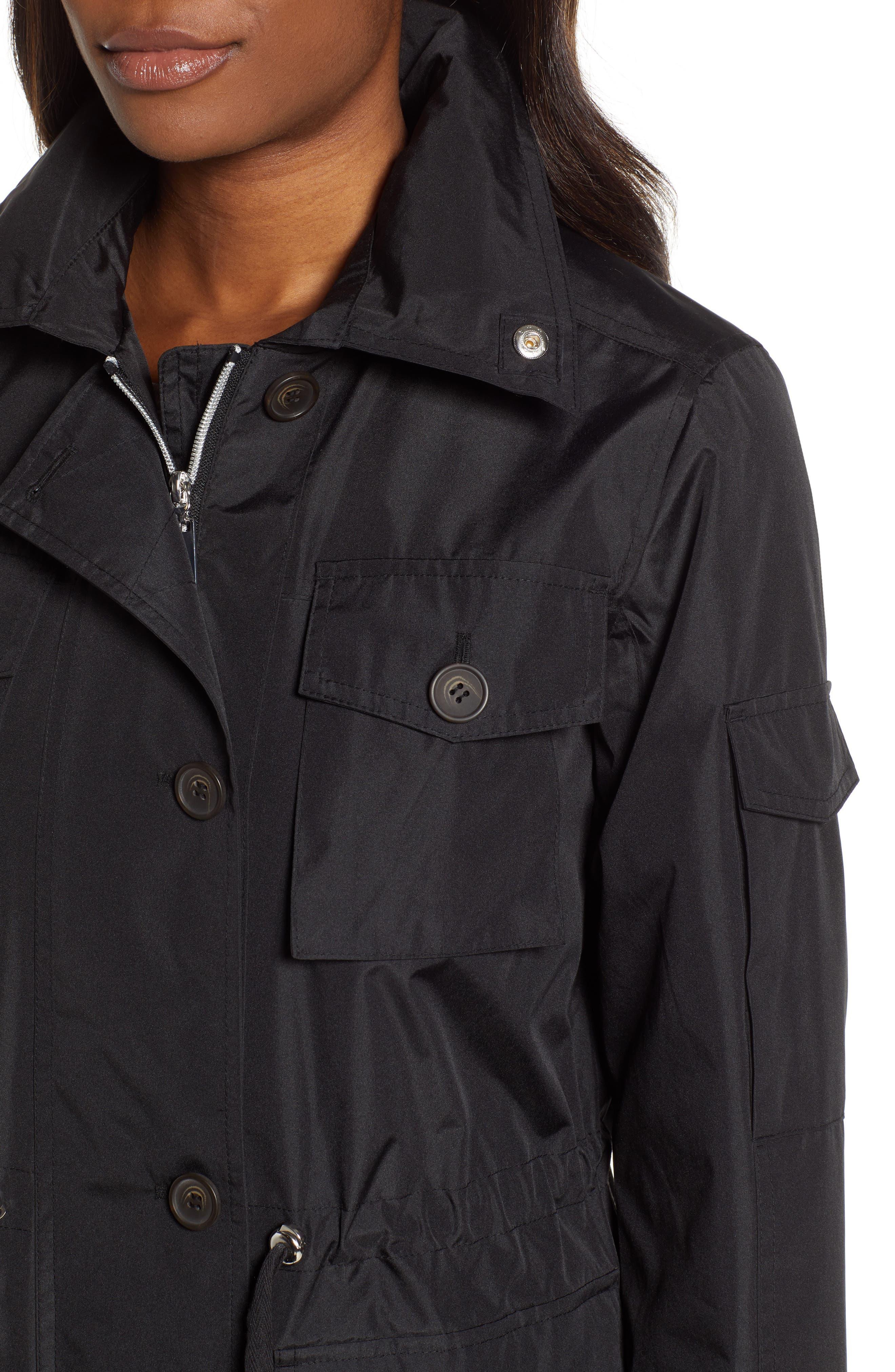 ,                             4-Pocket Water Repellent Utility Jacket,                             Alternate thumbnail 4, color,                             BLACK