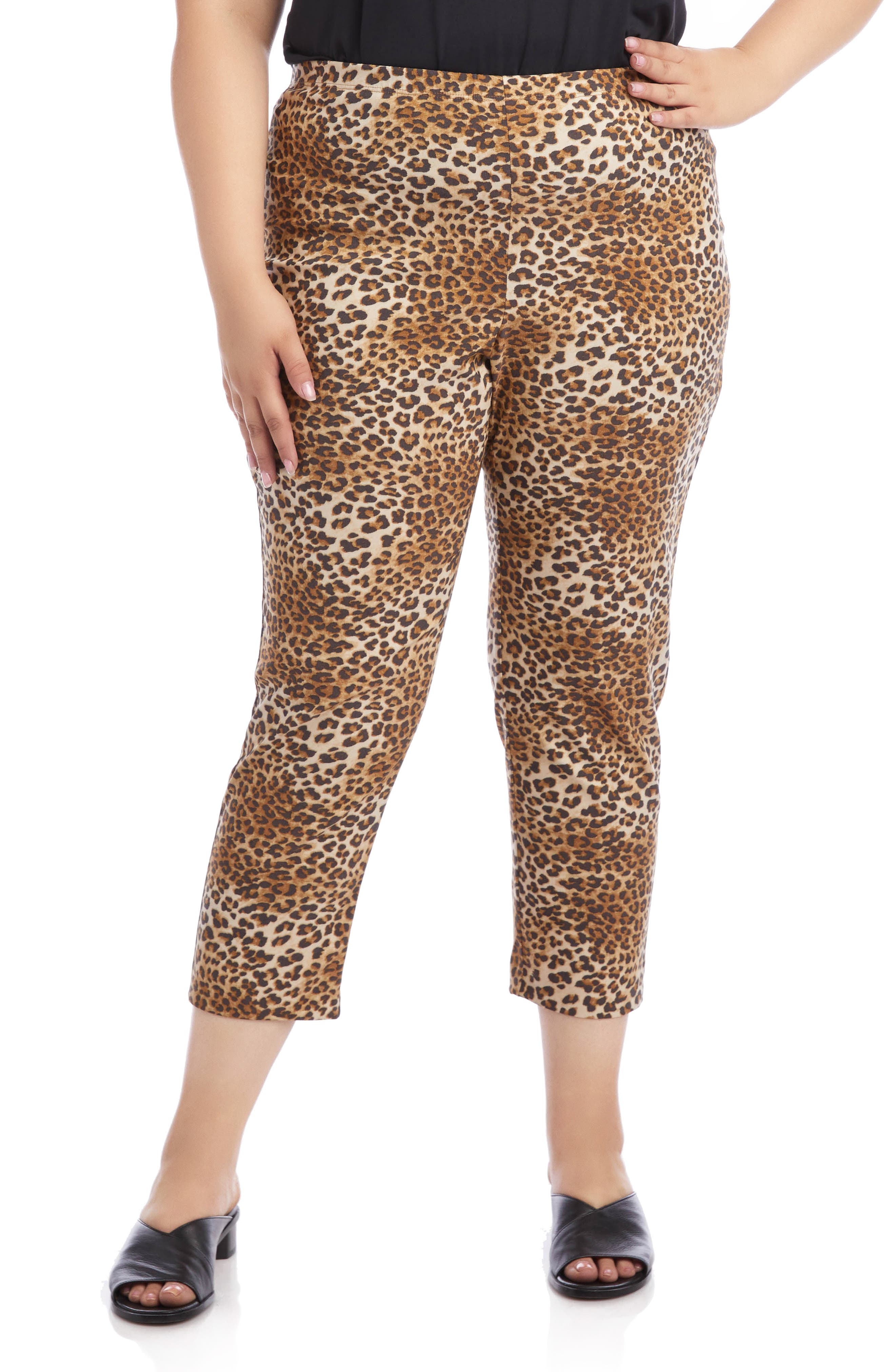 Image of Karen Kane Leopard Print Pull-On Piper Pants
