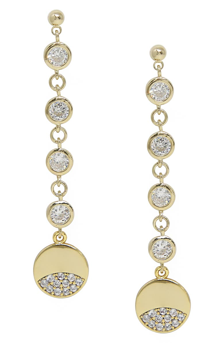 ETTIKA Multi Crystal Drop Earrings, Main, color, GOLD