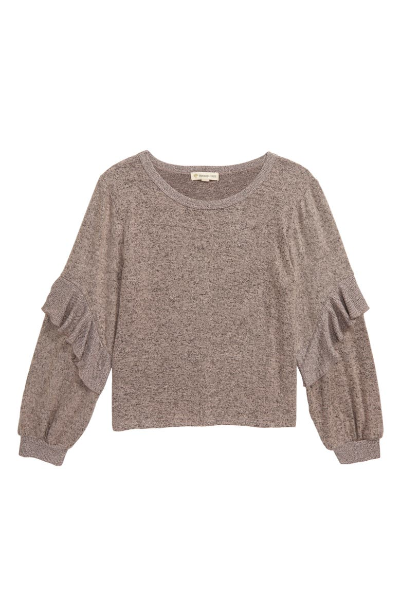 TUCKER + TATE Cozy Hacci Knit Sweatshirt, Main, color, PINK ENGLISH HEATHER