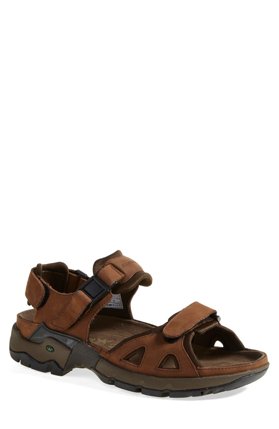 Allrounder by Mephisto 'Alligator' Sandal, Main, color, BROWN