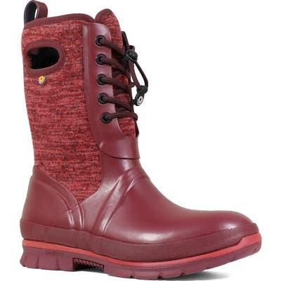 Bogs Crandall Waterproof Boot, Burgundy