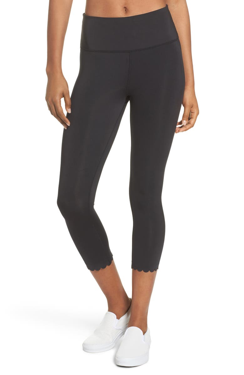 5204cb73859d2 kate spade new york scallop crop leggings | Nordstrom