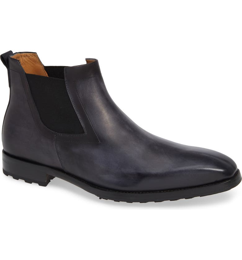 MEZLAN Omar Lugged Chelsea Boot, Main, color, GREY LEATHER