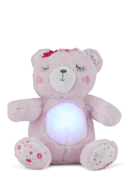Image of Dreamgro Plush Soother Bear w/Lights & Music - Pink Bear