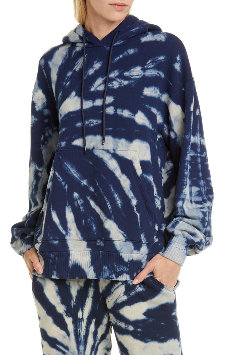 COTTON CITIZEN Brooklyn Oversize Tie Dye Hoodie, Main, color, ULTAMARINE RAIN
