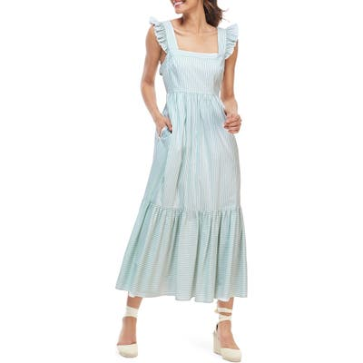Gal Meets Glam Collection Jasmine Stripe Square Neck Maxi Sundress