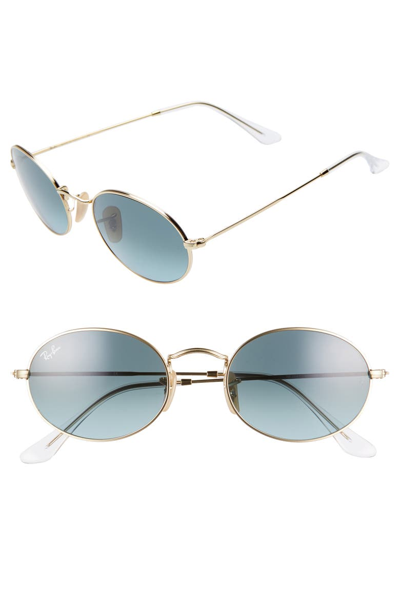 RAY-BAN 54mm Oval Sunglasses, Main, color, 710