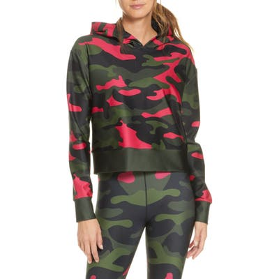 Cor Designed By Ultracor Camo Crop Hoodie, Green
