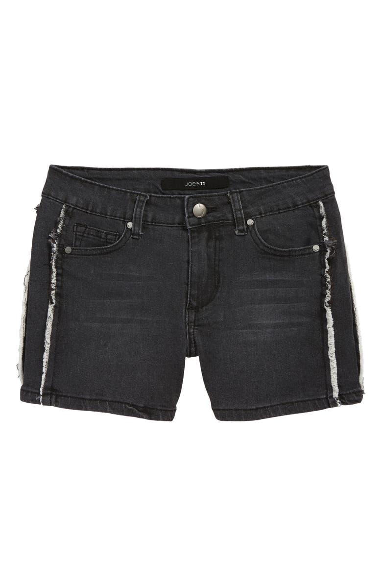 JOE'S Markie Frayed Denim Shorts, Main, color, 001