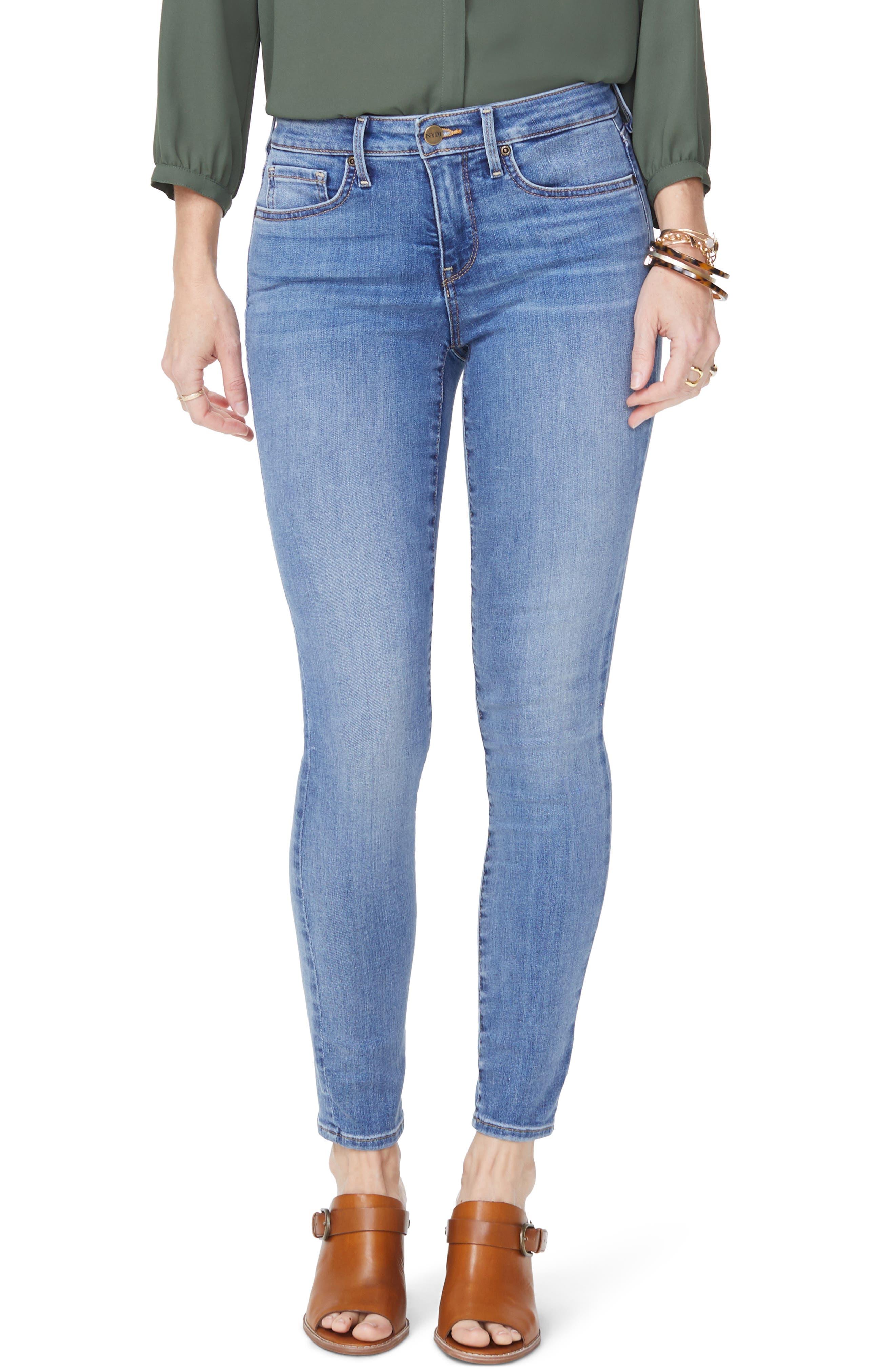 Petite Women's Nydj Ami Super Skinny Jeans,  18P - Blue
