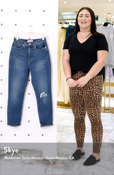 The Momjean Ripped High Waist Stretch Jeans, sales video thumbnail