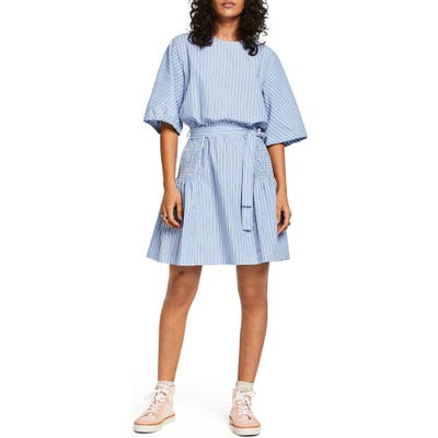 Scotch & Soda Crispy Stripe Dress, Blue