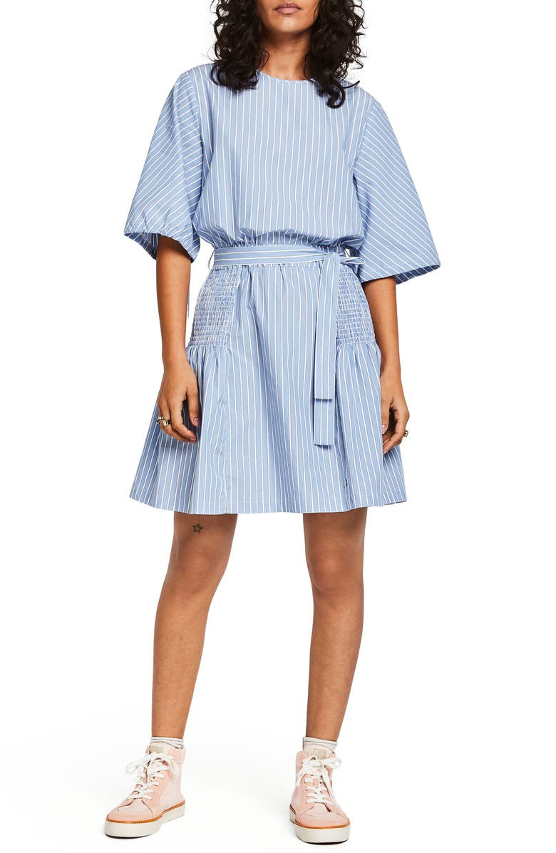 SCOTCH & SODA Crispy Stripe Dress, Main, color, COMBO A