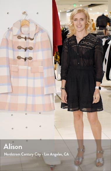 Annelise Plaid Hooded Coat, sales video thumbnail