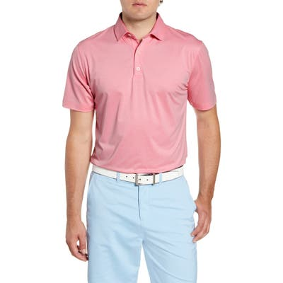 Johnnie-O Birdie Classic Fit Performance Polo, Pink