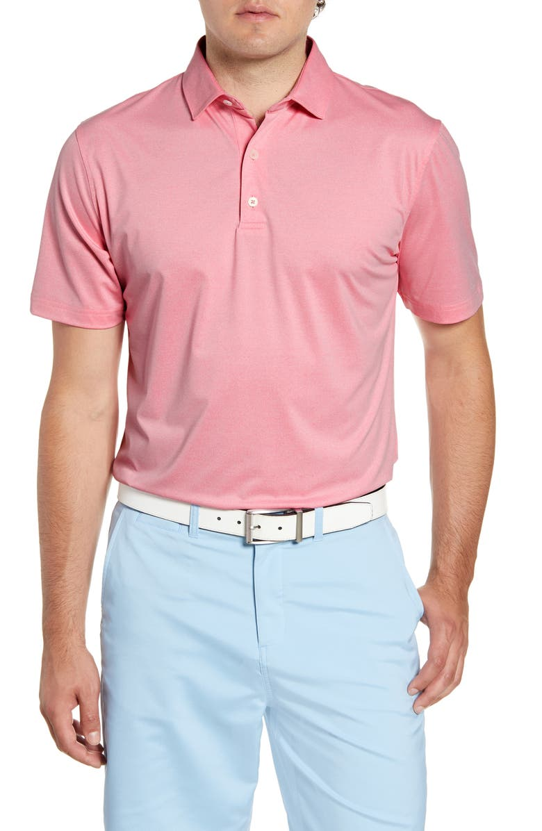 JOHNNIE-O Birdie Classic Fit Performance Polo, Main, color, PINK