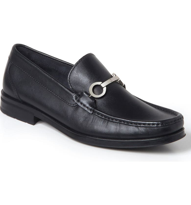 SANDRO MOSCOLONI Genoa Bit Loafer, Main, color, BLACK LEATHER